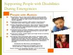 supporting people with disabilities during emergencies34