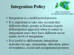 integration policy7