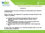 general principles of presentation9