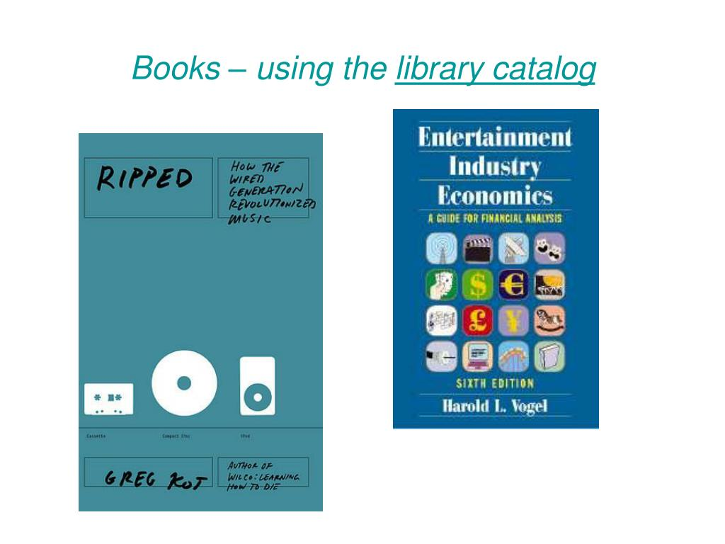 Books – using the