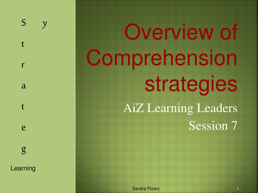 overview of comprehension strategies l.
