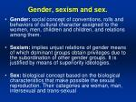 gender sexism and sex
