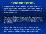 human rights hhrr