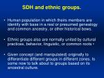 sdh and ethnic groups