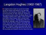 langston hughes 1902 1967