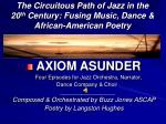 the circuitous path of jazz in the 20 th century fusing music dance african american poetry