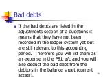 bad debts70