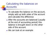 calculating the balances on accounts
