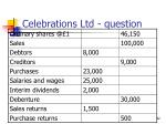 celebrations ltd question