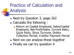 practice of calculation and analysis138