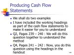 producing cash flow statements