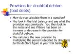 provision for doubtful debtors bad debts75