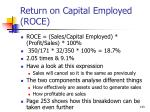 return on capital employed roce