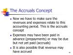 the accruals concept