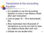 transactions the accounting equation