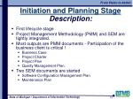 initiation and planning stage description