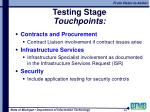 testing stage touchpoints