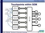 touchpoints within sem