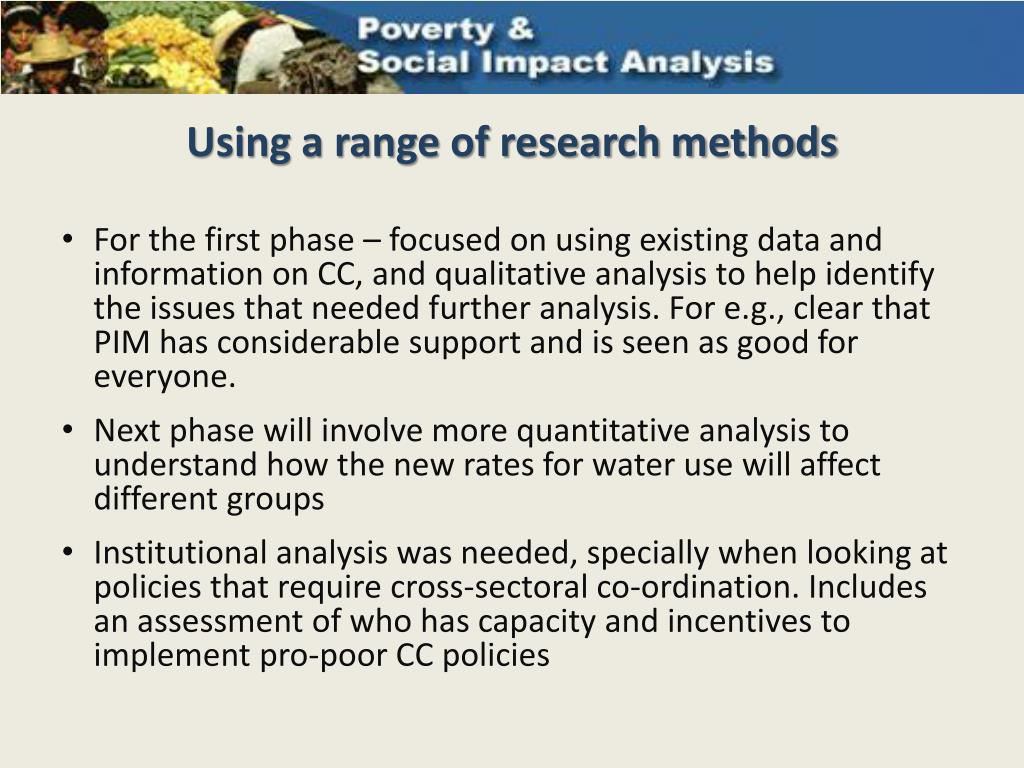 Using a range of research methods