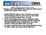 cbos observational structure