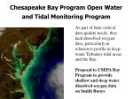 chesapeake bay program open water and tidal monitoring program