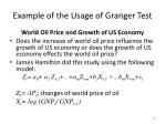example of the usage of granger test