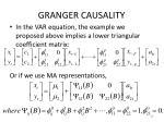 granger causality40