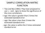 sample correlation matric function