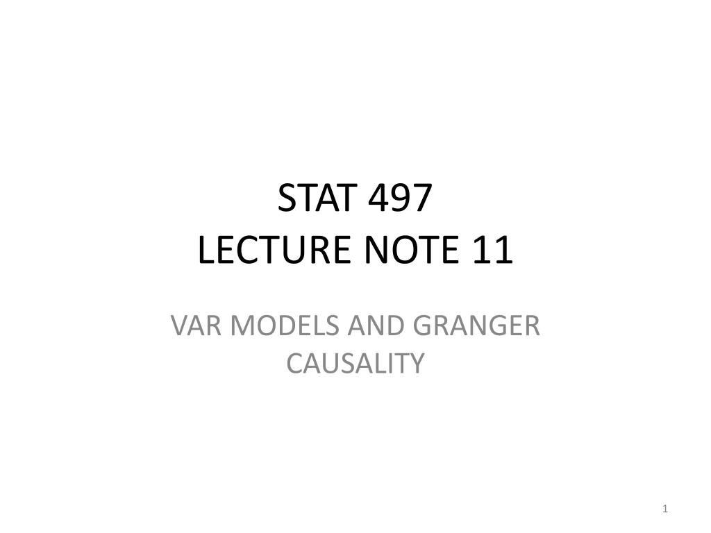 stat 497 lecture note 11 l.