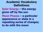 academic vocabulary definitions
