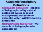 academic vocabulary definitions71