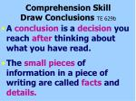 comprehension skill draw conclusions te 629b