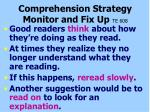 comprehension strategy monitor and fix up te 608