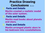 practice drawing conclusions pb 243