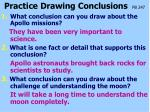 practice drawing conclusions pb 247