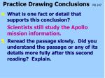 practice drawing conclusions pb 24711
