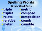 spelling words greek word parts66