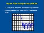 digital filter design using matlab41