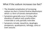 what if the sodium increases too fast