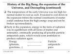 history of the big bang the expansion of the universe and decoupling continued