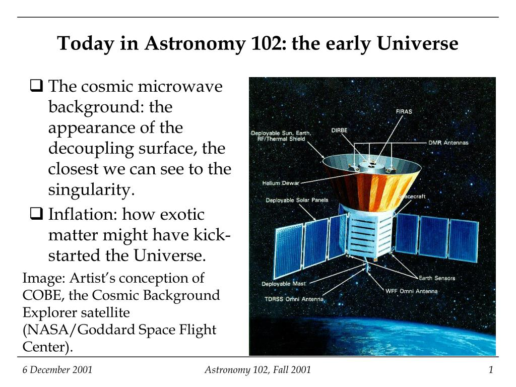 today in astronomy 102 the early universe l.