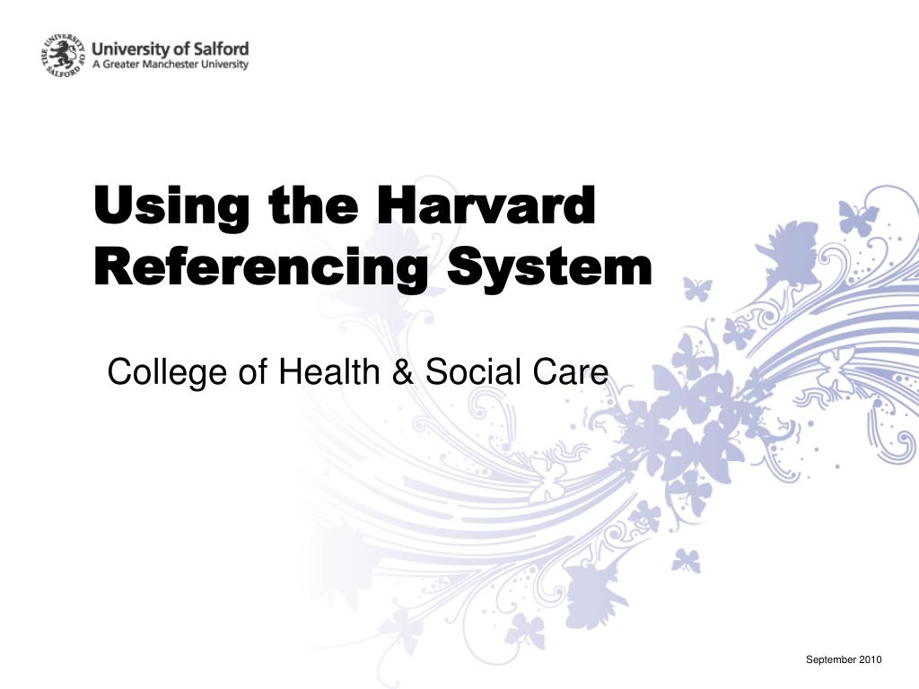 using the harvard referencing system l.