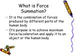 what is force summation