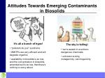 attitudes towards emerging contaminants in biosolids