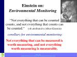 einstein on environmental monitoring