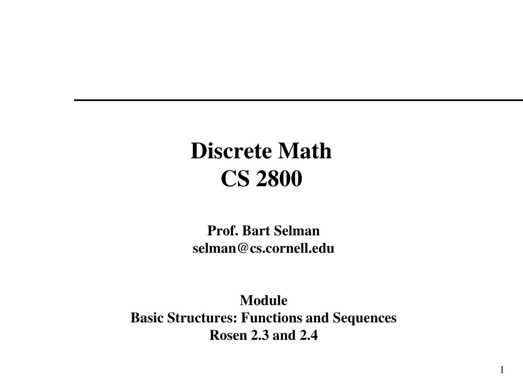 discrete math cs 2800 l.