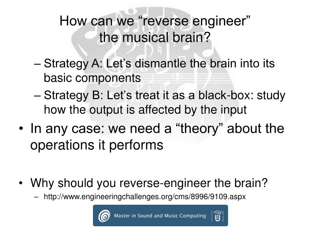 "How can we ""reverse engineer"""