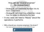 how can we reverse engineer the musical brain