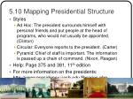 5 10 mapping presidential structure