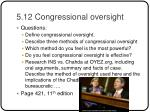 5 12 congressional oversight